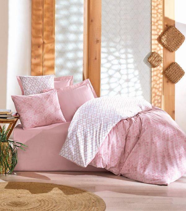 Двоен спален комплект от 100% памучен ранфорс 321