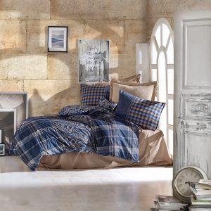Двоен спален комплект от 100% памучен ранфорс 322