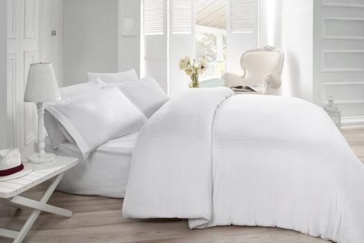 Двоен спален комплект от 100% памучен ранфорс 324
