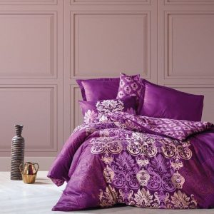 Двоен спален комплект от 100% памучен сатен 327