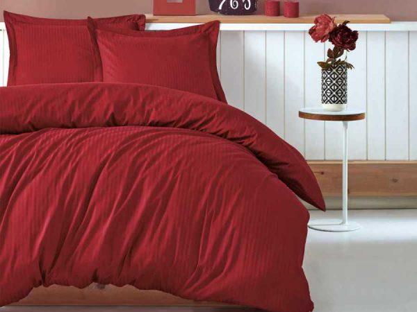 Двоен спален комплект от 100% памучен сатен 330