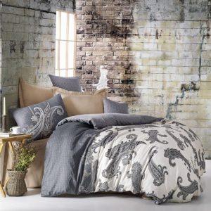 Двоен спален комплект от 100% памучен сатен 334