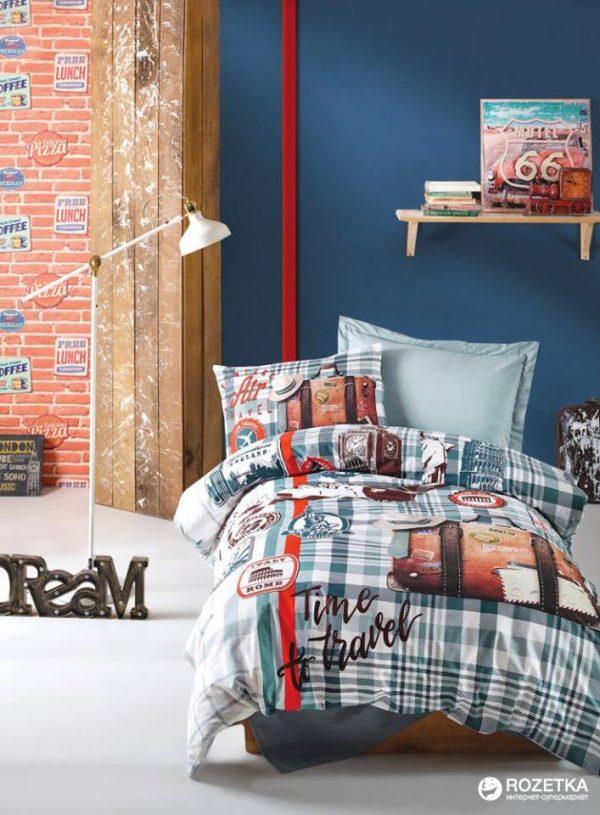 Единичен Спален комплект от 100% памучен ранфорс 282