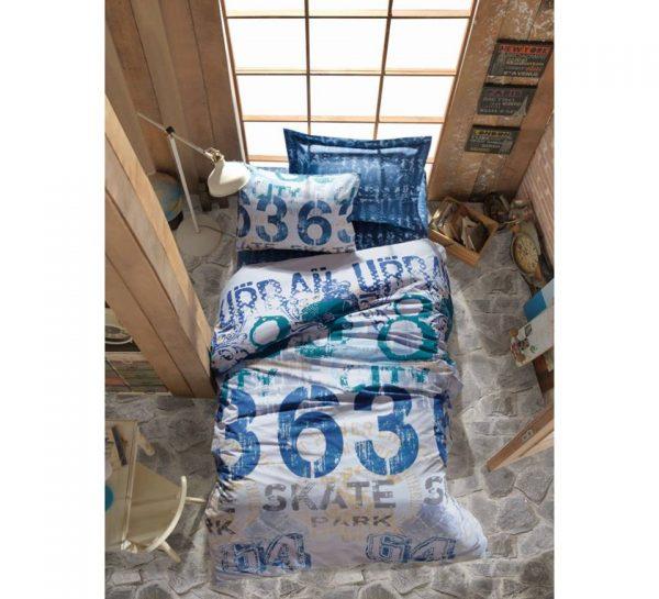 Единичен Спален комплект от 100% памучен ранфорс 286