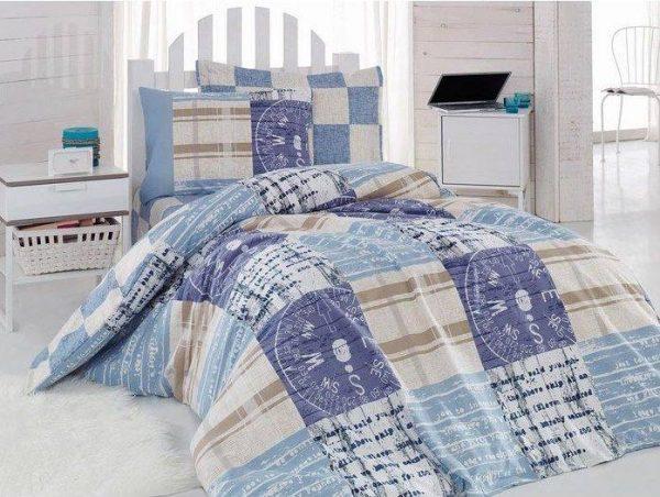 Единичен Спален комплект от 100% памучен ранфорс 291