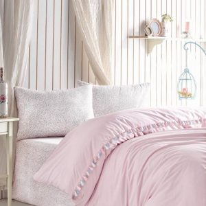 Единичен Спален комплект от 100% памучен ранфорс 268
