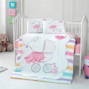 Бебешки спален комплект от 100% памучен ранфорс 350