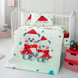 Бебешки спален комплект от 100% памучен ранфорс 351