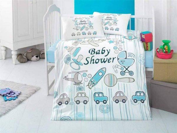 Бебешки спален комплект от 100% памучен ранфорс 352