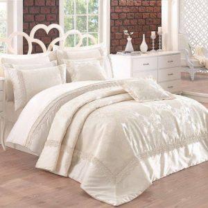 Луксозен двоен спален комплект от памучен сатен 346