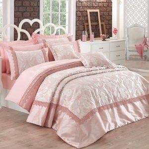 Луксозен двоен спален комплект от памучен сатен 348