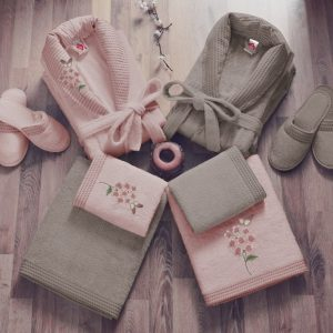 Луксозен семеен комплект за баня 100% Bamboo 344