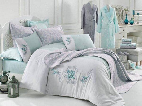 Луксозен семеен комплект за спалня и баня от 17 части 337