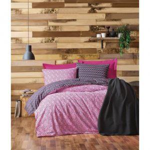 Двоен спален комплект от 100% памучен ранфорс 355