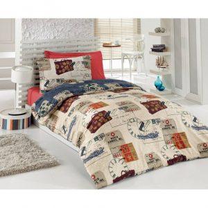 Единичен Спален комплект от 100% памучен ранфорс 358