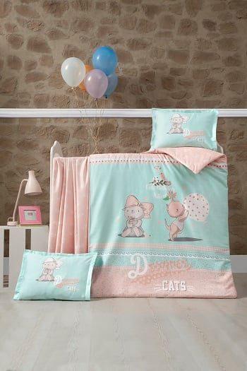 Бебешки спален комплект от 100% памучен ранфорс 373