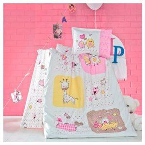 Бебешки спален комплект от 100% памучен ранфорс 374