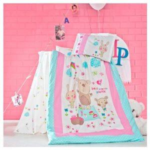 Бебешки спален комплект от 100% памучен ранфорс 376