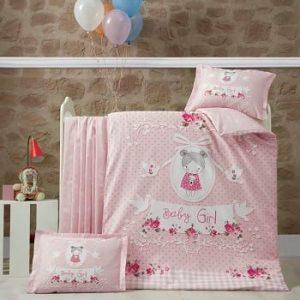 Бебешки спален комплект от 100% памучен ранфорс 378