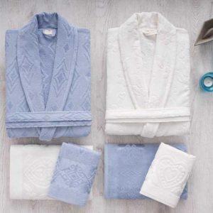 Луксозен семеен комплект за баня от 100% памук 380